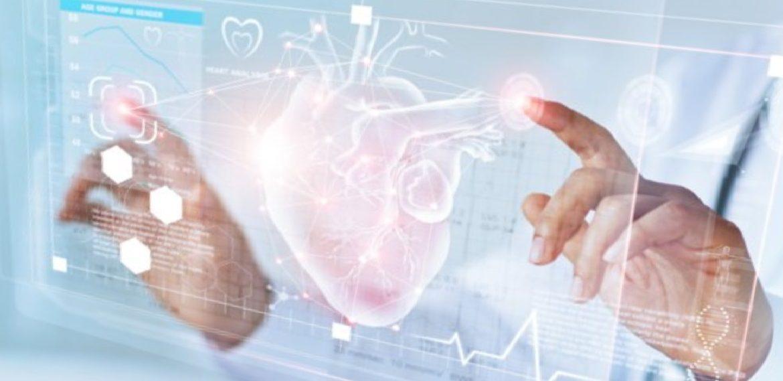 Футуристическое изображение голограммы сердца, Medclic.ru