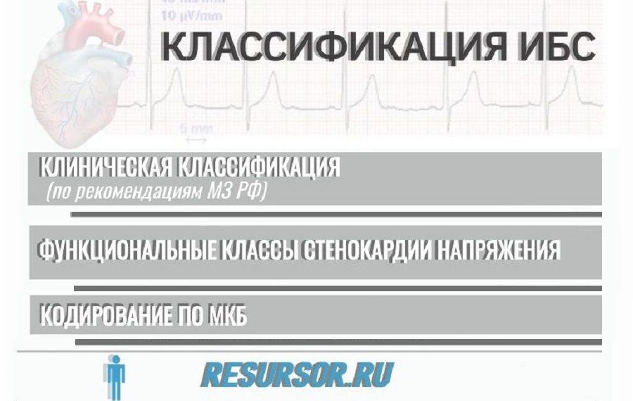 Изображение к статье по классификации ишемической болезни сердца, медицинская энциклопедия РЕСУРСОР.